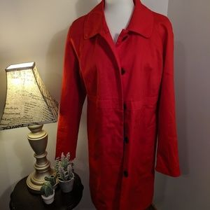 Merona Red Button Trench Coat